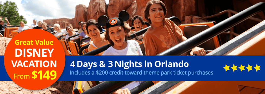 Disney Vacation Package from $149 per family