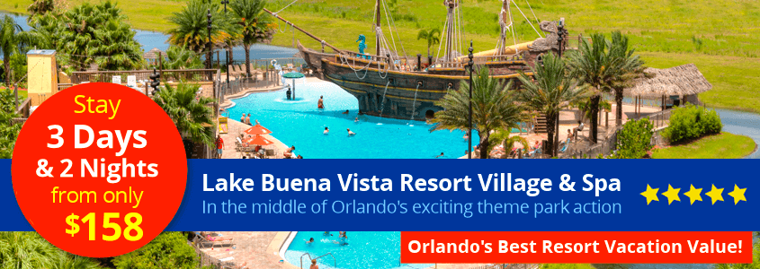 Lake Buena Vista Resort Vacation Package from $158 per family