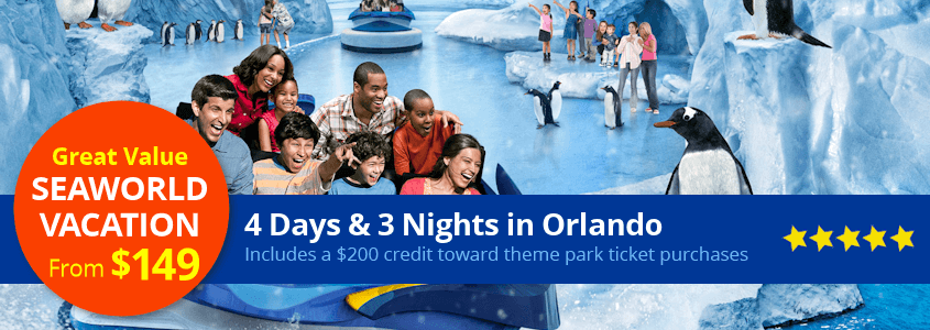 SeaWorld Orlando Vacation Package from $149 per family