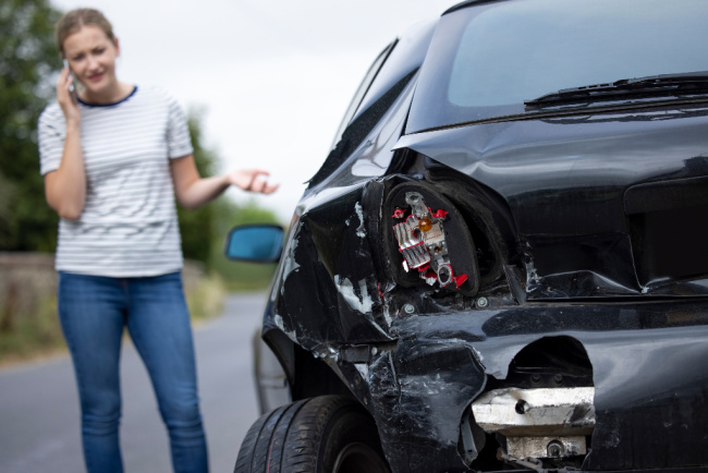 Mom in a car accident