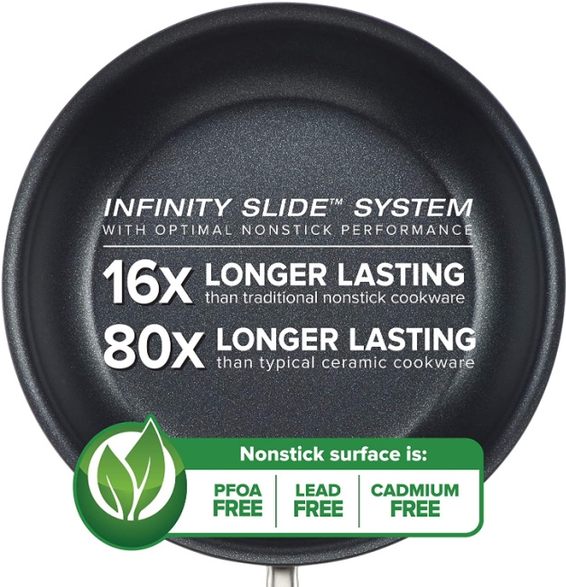 ANOLON Infinity Slide Nonstick Surface