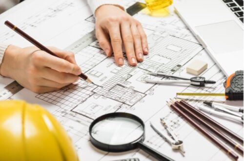 architect designing a new house