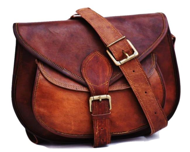 Satcheland Fable Handmade Women Vintage Style Genuine Brown Leather Cross Body Shoulder Bag