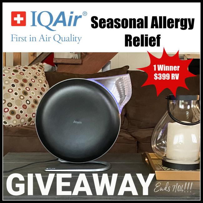 IQAir Seasonal Allergy Relief Giveaway