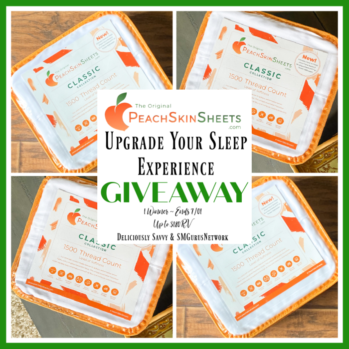 PeachSkinSheets Upgrade Your Sleep Experience Giveaway