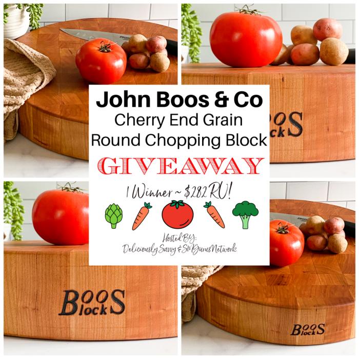 John Boos & Co Giveaway