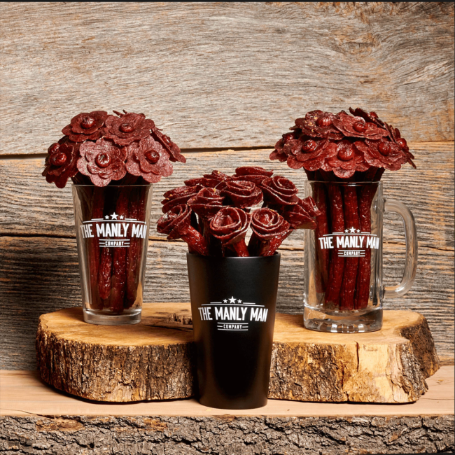 Manly Man Co Fathers Day Beef Jerky Bouquets