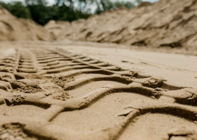Tire Tracks at Lester Brothers