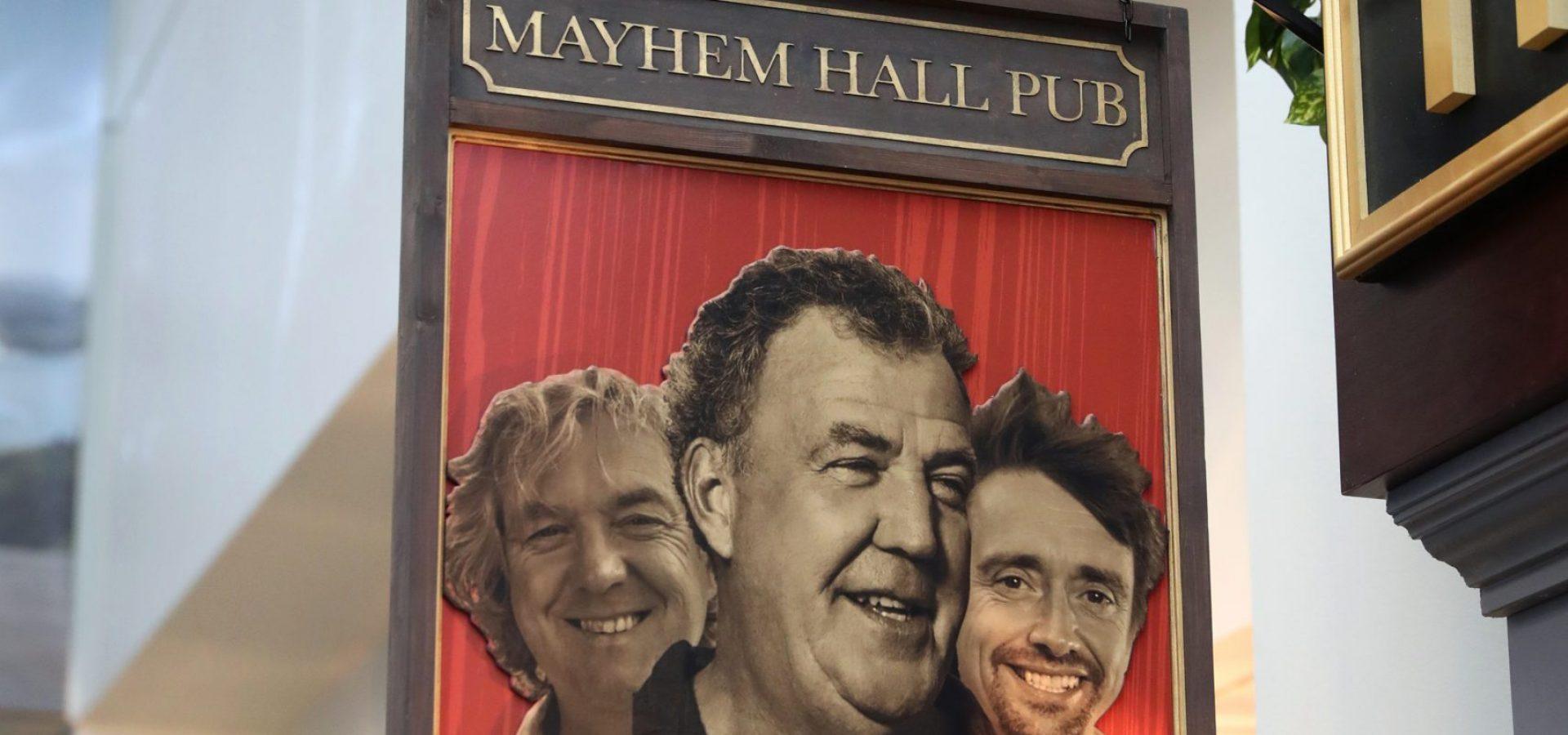 Grand Tour Mayhem Hall Pub Sign