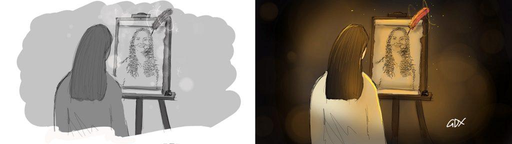 Black and white vs color rendering - GDX Studios