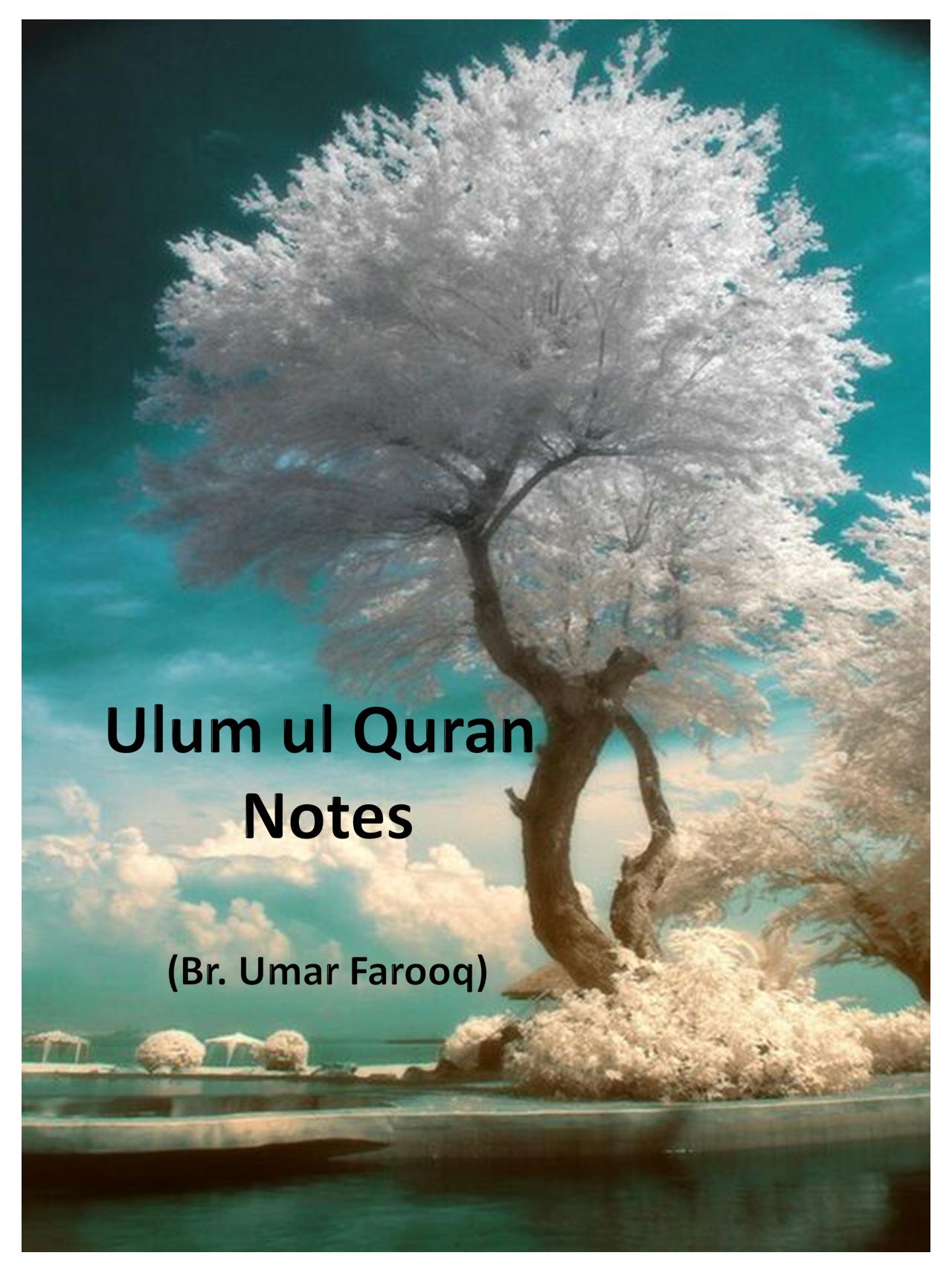 Notes Ulum Ul Quran