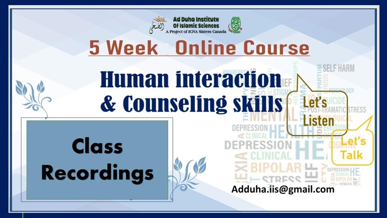 Human Interaction & Counseling Skills