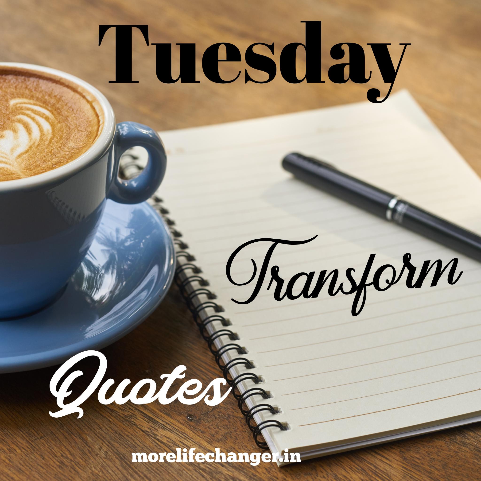 Tuesday transform quotes