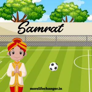 Samrat is back bencher. He is only interested in playing football.