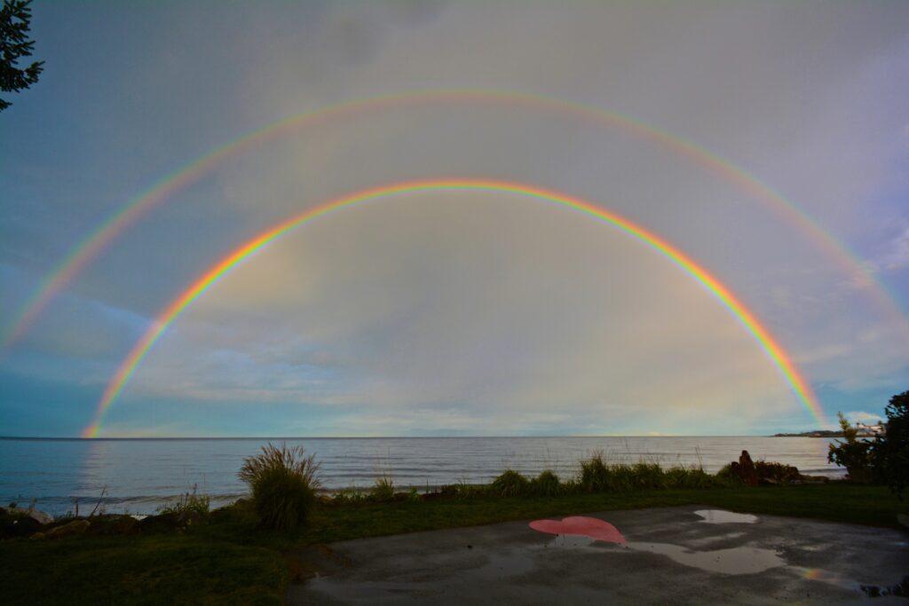 Beautiful double rainbow!