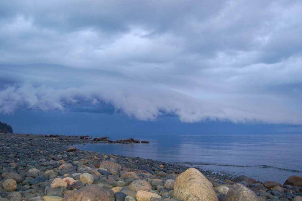 And then a storm rolled in