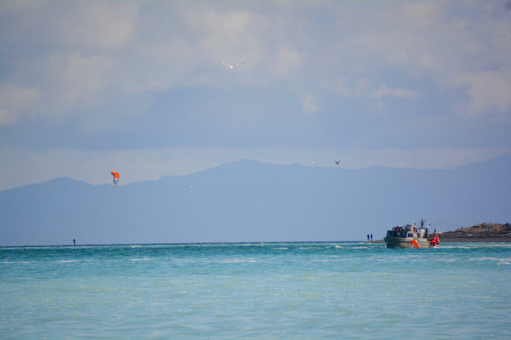 Kite boarding off King Coho