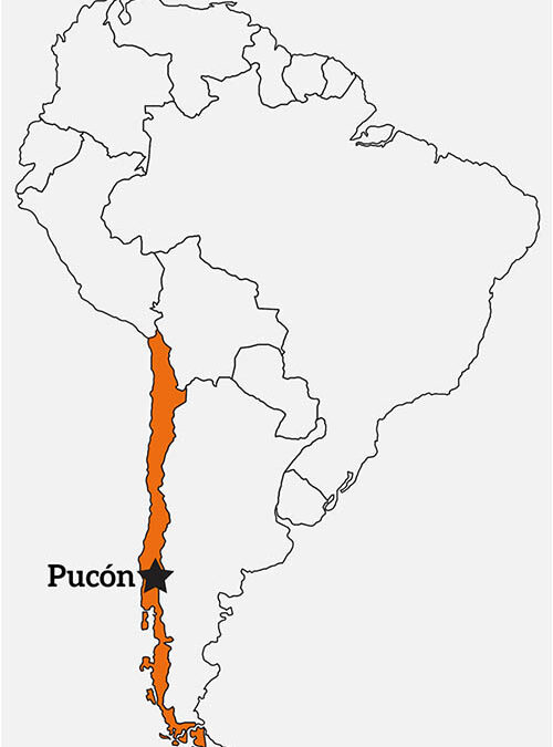 Map of Chile and Pucon