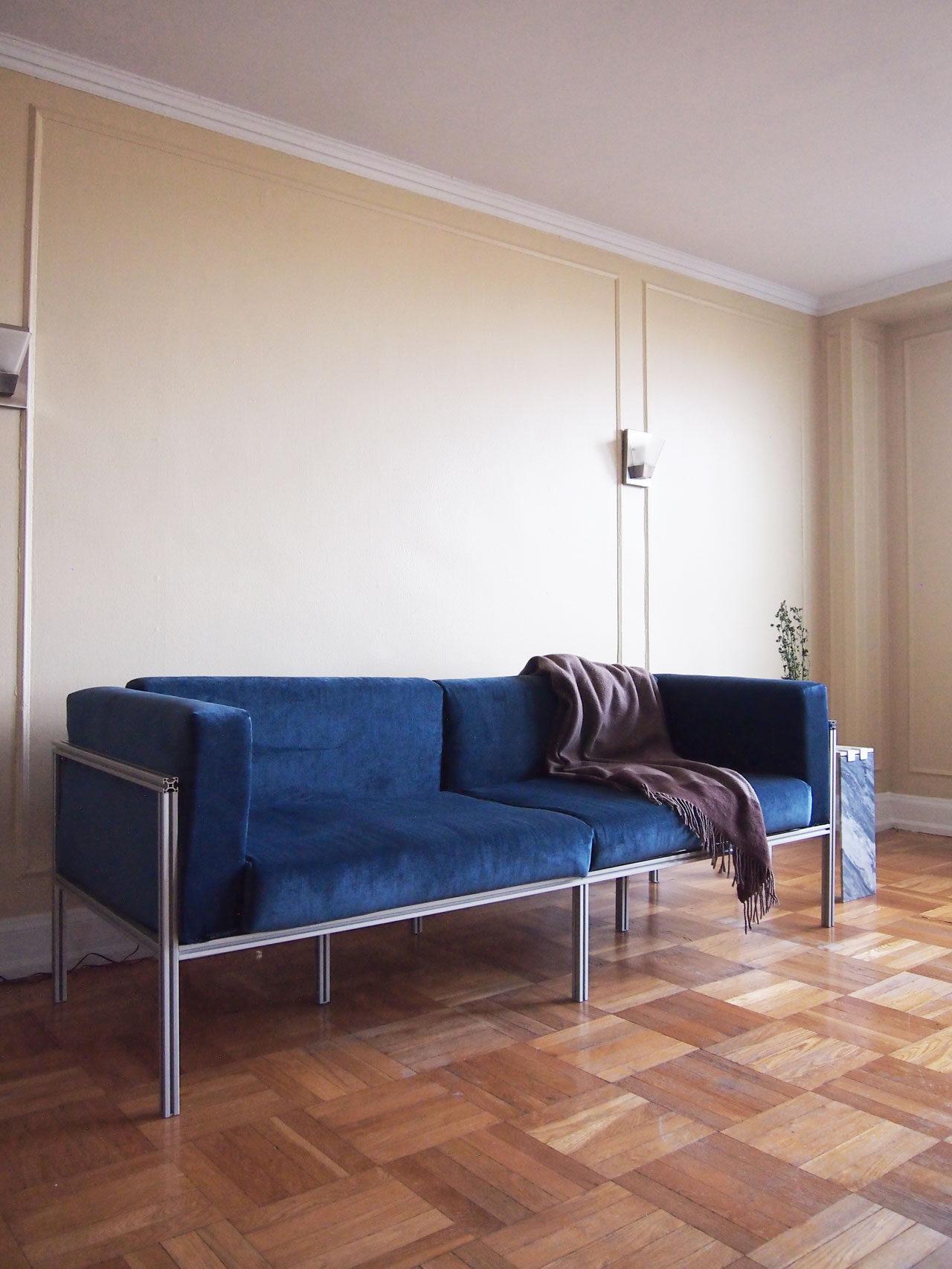 DIY velvet sofa couch designed by Aandersson