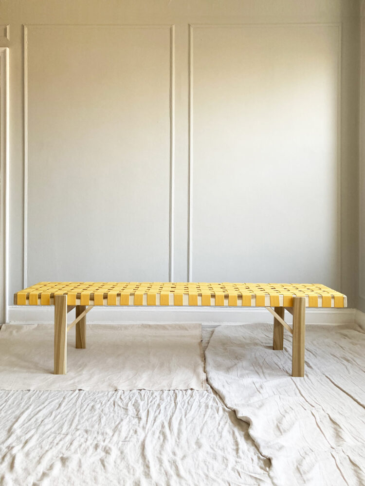 Simple Joinery Cotton Strap Bench by Ian Anderson