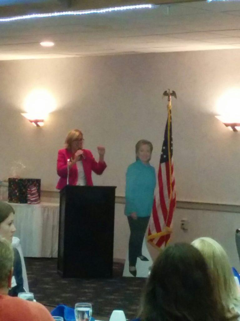 Mayor Kirsten Holzheimer Gail addresses the EDC Brunch