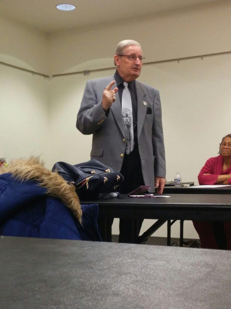 State Senator Kenny Yuko addresses the Club