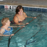Aquatic physical therapy in pool