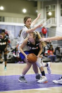 CHICAGO, IL - FEBRUARY 16: during the 2020 Jr. NBA 3v3 All-Star Tournament on February 16, 2020 at Navy Pier in Chicago, Illinois. NOTE TO USER: User expressly acknowledges and agrees that, by downloading and or using this photograph, User is consenting to the terms and conditions of the Getty Images License Agreement. Mandatory Copyright Notice: Copyright 2020 NBAE (Photo by Kevin Tanaka/NBAE via Getty Images)