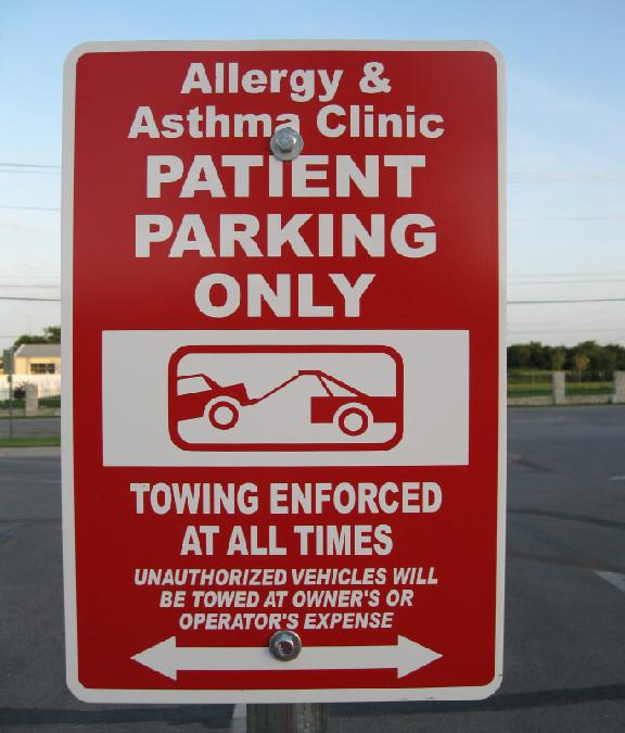 parking lot sign
