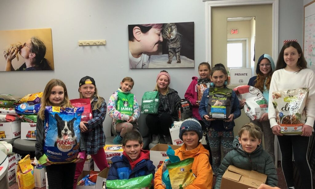 kids with donations
