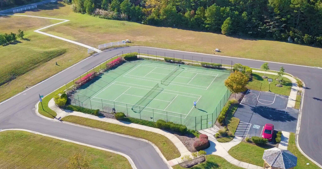 tennis court at Bayside