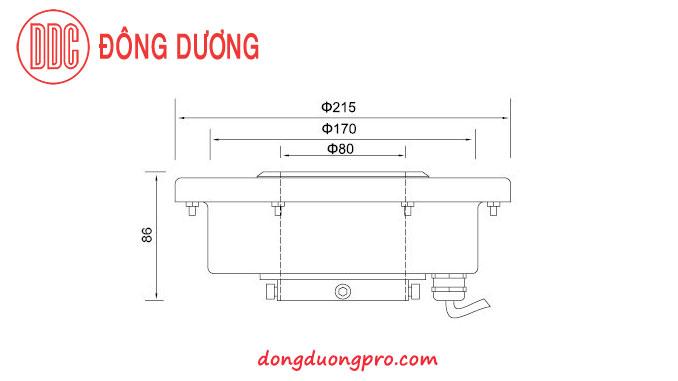Kich thước kỹ thuật đèn Led cho đài phun nước nghệ thuật DDL-215GK