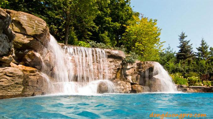 thiết kế hồ bơi thác nước