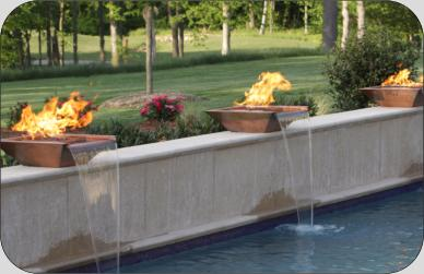 Charlotte Pools & Spas Water & Fire