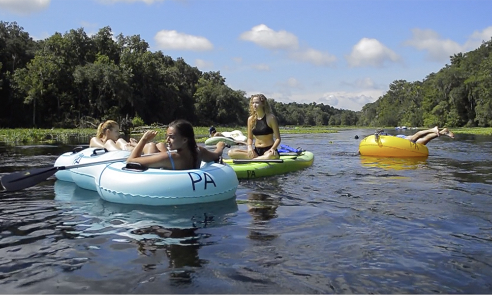 Floating tubes at Ichetucknee Springs State Park