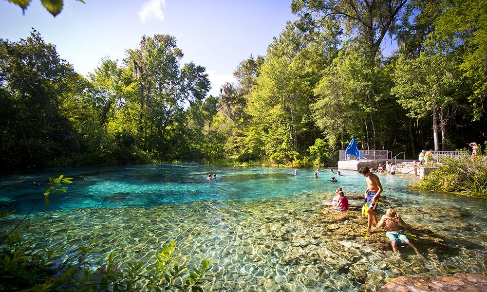 Swimming Head Springs at Ichetucknee Springs State Park
