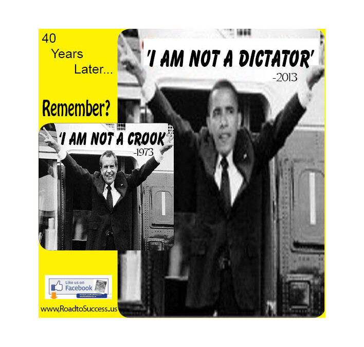 OBAMA: 'I Am Not A Dictator' – Said 40 Years After Nixon's 'Crook' -Tshirts, Posters