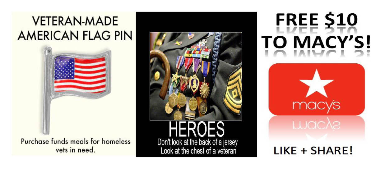 MILITARY DISCOUNTS Honoring Our Veterans – 20 FREE Meal Deals Plus
