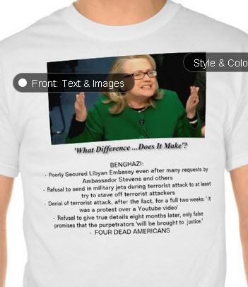 hillary what difference tshirt