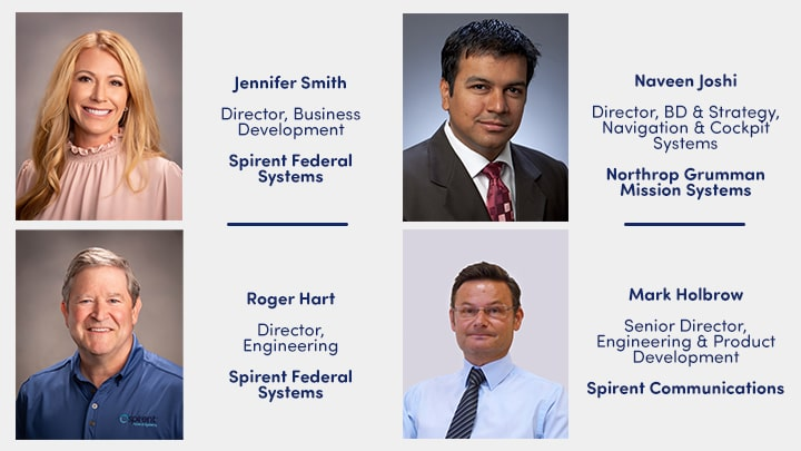Speakers for Inertial and Alternative RF PNT webinar with Northrop Grumman