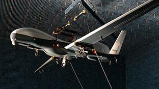 CRPA Adaptive Antennas Drone Anechoic Chamber