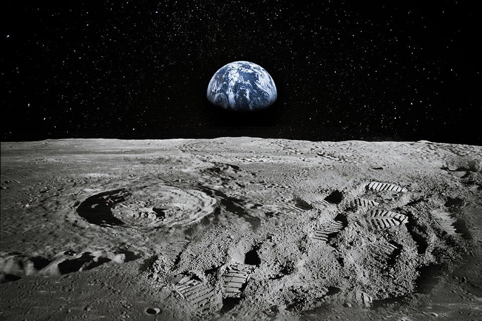 Earth from Moon NASA
