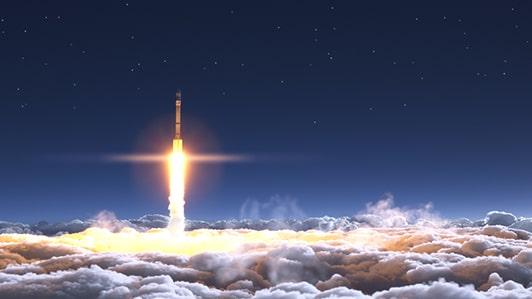 Rocket Launch Sky High Dynamic Application