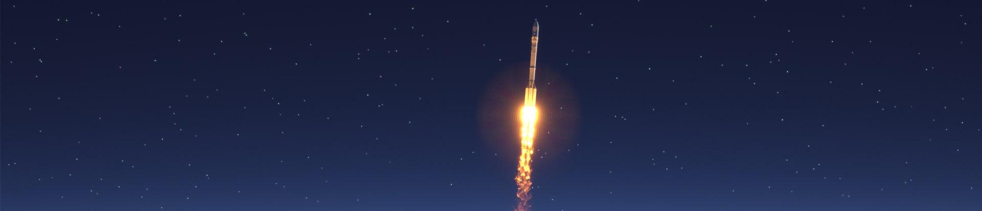 Rocket Night Sky