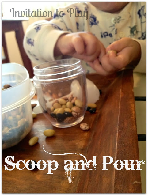 invitation to play: scoop and pour