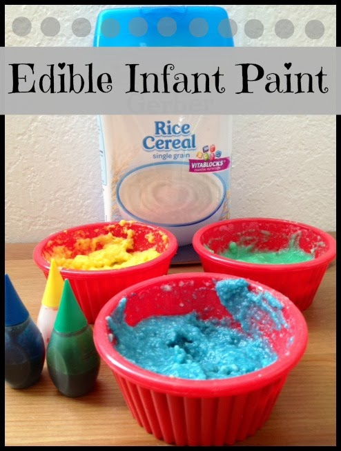 Help infants explore their senses with this edible paint!