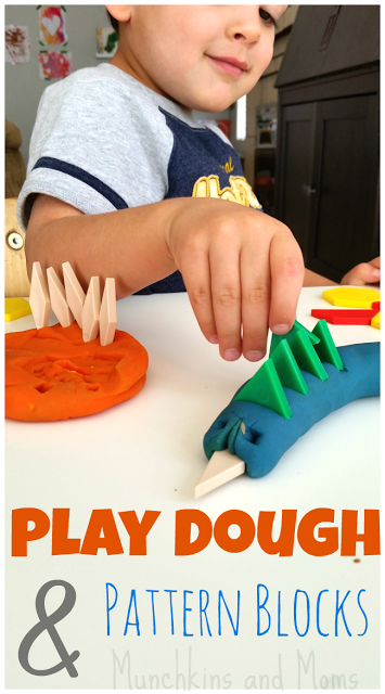 http://www.munchkins-and-moms.com/2015/02/pattern-blocks-and-play-dough.html