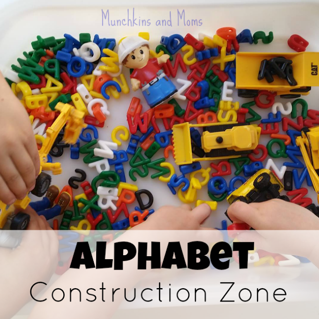 Alphabet Construction Zone- A great activity for preschoolers who love tractors!