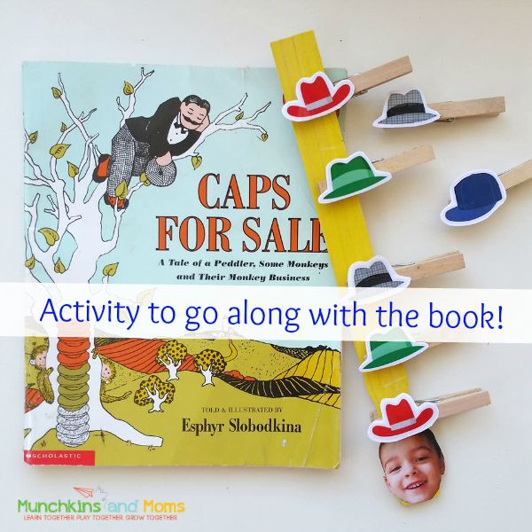 """Fine motor, sequencing, and math activity for the book """"Caps for Sale""""!"""