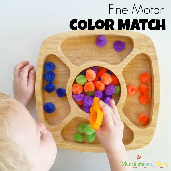Fine Motor Color Matching Activity for Preschoolers and Toddlers!